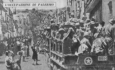 Soldats américains entrant dans Palerme lors de la capture de la ville