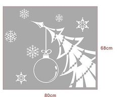 Merry Christmas Tree Snow Removable Home Vinyl Window Wall Stickers Decal decor