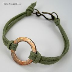 Rustic Copper Washer and Leather Bracelet Tutorial