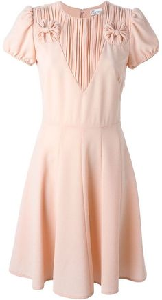 Red valentino 'Abito' flared dress