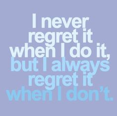 Who wants to live with regrets? Work out at CFit and you'll live a regret-free lifestyle!
