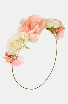 Complete your boho look with a floral headband.