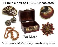 I'll take a box of THESE Chocolates!! by myvintagejewels on Polyvore featuring vintage, women's clothing, women's fashion, women, female, woman, misses and juniors