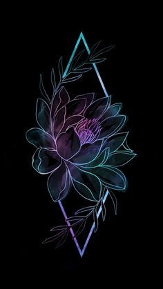 Amoled Flower iPhone Wallpaper - iPhone Wallpapers