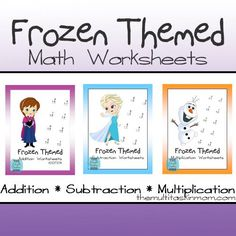 Share Tweet + 1 Mail  What is more fun than math? Math with your favorite characters, of course!  Your children will enjoy ...