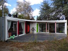 1960s Serge Binotto-designed circular property....You might not know the name of the architect, but a much bigger name looms large over this 1960s property in Mirepoix, Arieg, SW France, Jean Prouve.