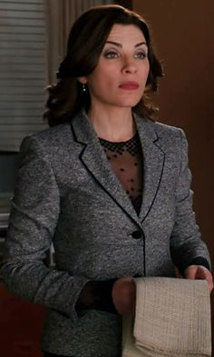 """Alicia's Akris Sleeveless Lace Top The Good Wife Season 4, Episode 19: """"The Wheels of Justice"""" - Spotted on TV"""