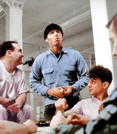 Danny Devito, Jack Nicholson and Brad Dourif on the set of One Flew Over The Cuckoo's Nest.