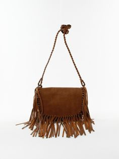 Fringe Cross-body Bag in Tan