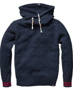 """""""navy sweatshirt"""" Everyone should own a high collared sweat - gives edge to your daily comfort wear"""