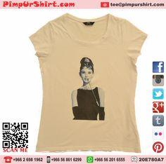 #Audrey #Hepburn #audreyhepburn #white #tshirt #design #logo #printing #custom #onlineshop #onlinestore #tagsforlikes #photooftheday #shirtoftheday #actress #movie #star #fashion #fashionista #blog #jeddah #ksa #saudi #saudiarabia #pimpurshirt                 www.pimpurshirt.biz