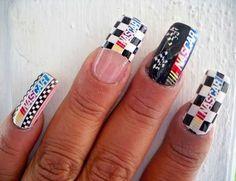 Nascar - nailartgallery.nailsmag.com Nail Art Gallery by nailsmag.com