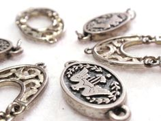 Silver Tone Eagle Connector Beads and Filigree by TUTreasures, $4.50  #vintage