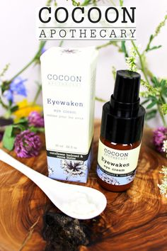 EYEWAKEN EYE CREAM $30 - by Cocoon Apothecary - A revitalizing eye cream that moisturizes and soothes tired eyes blended with the cooling, astringent hydrosols (waters) of organic rose and corn flower #eyecream #organic #eyewaken #FirmingEyeCream Natural Eye Cream, Anti Aging Eye Cream, Best Eye Cream, Natural Skin, Hydrating Eye Cream, Firming Eye Cream, Homemade Eye Cream, Homemade Skin Care, Cream For Oily Skin