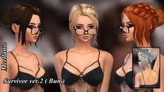 Survivor Hair ver 1 and ver 2 at Meellanie • Sims 4 Updates