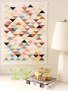 Royal Hawaiian Triangles Tea Towel from Avril Loreti Modern Home Decoration Inspiration, Color Inspiration, Trend Board, Triangles, Triangle Art, Whatsapp Wallpaper, Home And Deco, Grafik Design, Cool Ideas