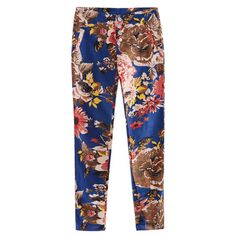 Print Stretch Skinny Pencil Pants Blue$52.00 ($52) ❤ liked on Polyvore