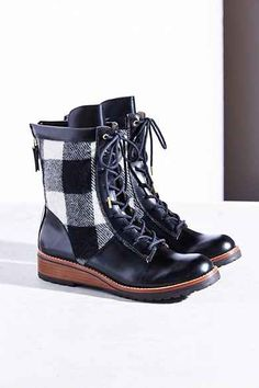 Matt Bernson Windsor Wool Plaid Hiker Boot These say move out my way!!! MO