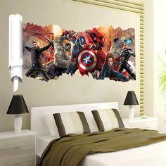 Venda Por Atacado Boy Recados Desenhos Animados Adesivos De Parede Avengers Home…