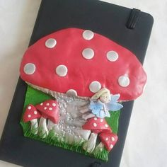 Polymer Toadstool Journal A6 Magical Toadstool by MysticalForestUK