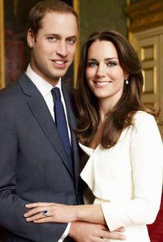 Prince William, Duke of Cambridge, Catherine, Duchess of Cambridge are posing for a picture: kate and will