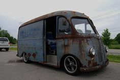 Rat rod mail truck Hot rod trucks Hot rods Hot rod pickup