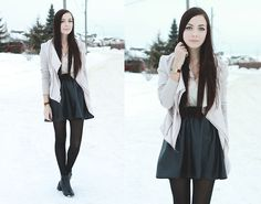 Goodnight Macaroon Faux Leather Skirt, Shop Akira Jacket