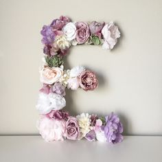 Large Floral Letter, Wood Letter, Flower Letter, Baby Shower Gift, Bridal Shower Decor, Party Decor, First Birthday, Lavender Nursery Purple by BegoniaRoseCo on Etsy https://www.etsy.com/listing/515665439/large-floral-letter-wood-letter-flower