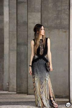 Longo Animal Print Moikana - Fashion Coolture  #longdress #animalprint #ootd