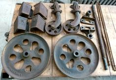 Lineberry Railroad Cart Wheels Parts Axle Set Industrial Steampunk Iron Lot 1 | eBay