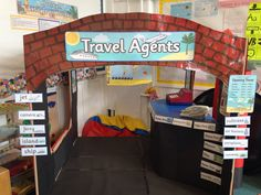 Travel agencies A trending business service among people! Year 1 Classroom, Primary Classroom, Classroom Themes, Dramatic Play Area, Dramatic Play Centers, Airport Theme, Transport Topics, Role Play Areas, After School Club