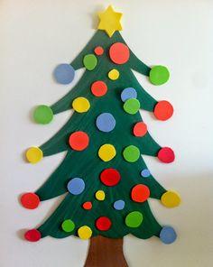 Ideas originales para el árbol de Navidad. Cómo realizar un árbol de Navidad Casero? árbol de navidad con material reciclable. árbol de navidad infantil..