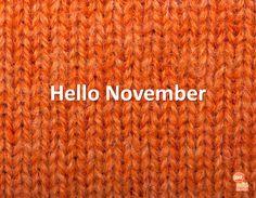 #hello #november #knitting #orange Hello November, Social Media, Seasons, Orange, Knitting, Tricot, Seasons Of The Year, Breien, Stricken