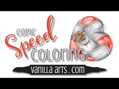 """Speed Color- Copic & Prismacolor. """"Guarded Heart"""" VanillaArts.com - YouTube"""