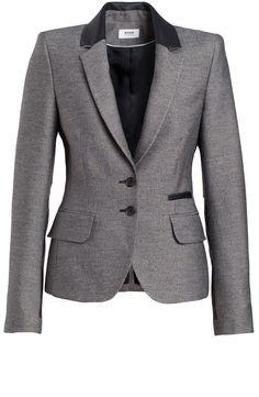 Business style blazer, with leather details.   www.annavantoor.nl