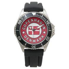 Copenhagen Denmark Wrist Watch - love gifts cyo personalize diy