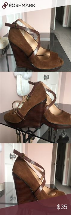 Women's wedges New without box very nice too big for me :) Charles David brand Charles David Shoes Wedges