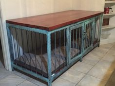 Dog crate that also is a fancy piece of modern industrial furniture. Dun4Me is the marketplace for custom made items built to your exact specifications by talented makers. Get bids for free, no obligation!