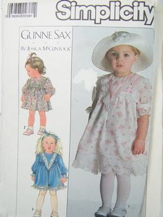 Simplicity 8203 Girl's Sewing Pattern Toddler by WitsEndDesign