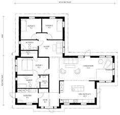 enplanshus planlösning - Sök på Google House Plans, Villa, Floor Plans, Layout, How To Plan, Future, Google, Inspiration, Home Decor