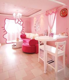 Cute Hello Kitty Room …  My Daughter's Favorites  Pinterest Awesome Hello Kitty Bedroom Designs Inspiration