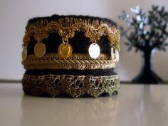 Knitted Bracelets KB 16 WINTER MOOD Set of 3 by Vladilenashandmade, $20.00