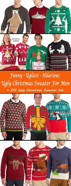 Funny, Ugliest, Hilarious Ugly Christmas Sweater Ideas For Men