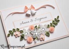 Ślubne dzwony - quilling, greeting card, handmade card