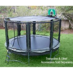 Looking for JumpSport trampoline accessories? JumpSport has many trampoline accessories including trampoline basketball hoops, balls, ladders, tents, and more. Trampoline Safety Net, 12ft Trampoline, Trampoline Basketball, Backyard Trampoline, Trampoline Ideas, Backyard Playground, Ground Trampoline, Backyard Retreat, Trampolines