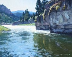 Smith River by Josh Elliott Oil ~ 16 x 20