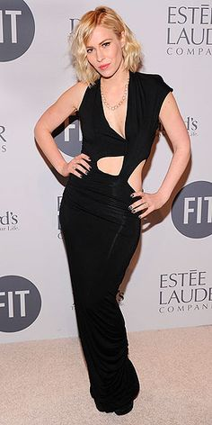 British singer, Natasha Bedingfield, bares her belly in an edgy black peekaboo Gabby Applegate dress at the FIT Educational Development Fund Benefit Gala at Cipriani in N.Y.C. #black #cutouts