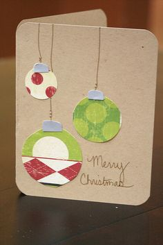 Last Minute Holiday Card Ideas from http://craftfancy.wordpress.com