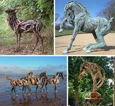 The Dreamy Driftwood Sculptures of Heather Jansch | WebUrbanist