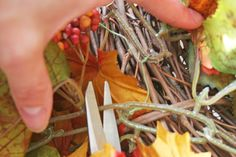 V and Co.: V and Co: how to: easy fall wreath